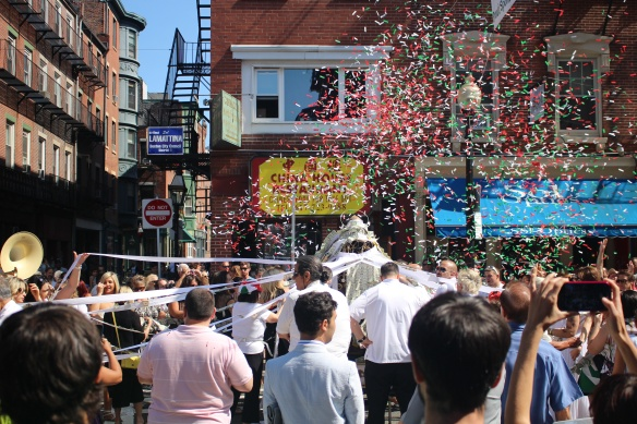 Hanover Street during the St. Anthony's Feast weekend