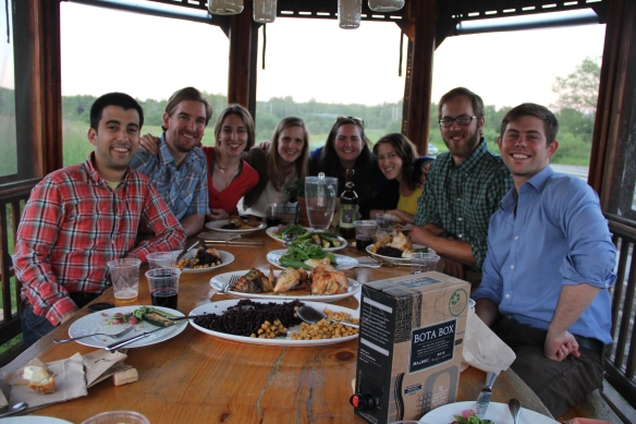 Enjoying our dinner at The Well at Jordan's Farm in Cape Elizabeth, ME.