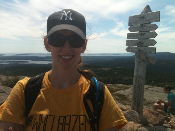 At the summit of Penobscot Mountain