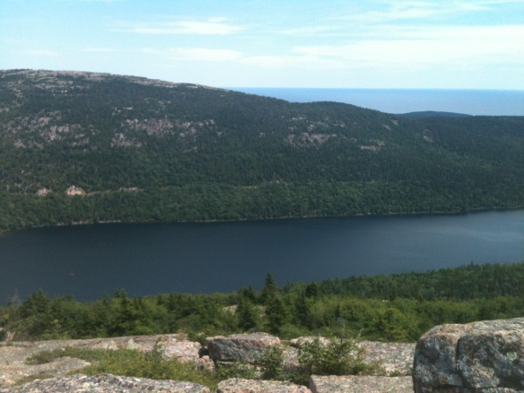 View of Jordan's pond from Penobscot