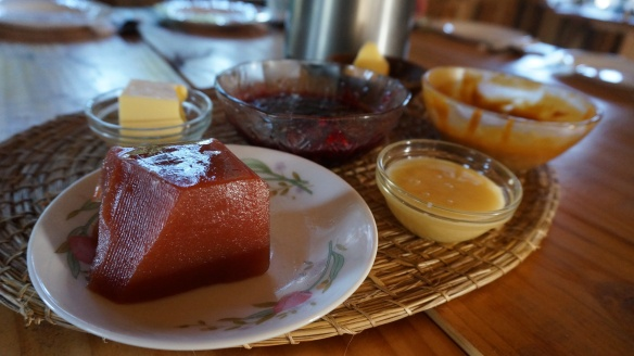 Homemade jams, local honey and all sorts of other delicious spreads were always available to eat with the fresh bread!