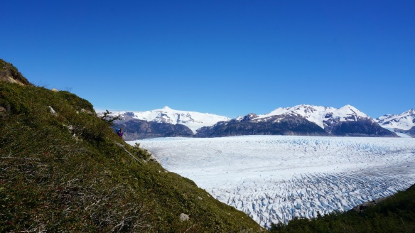Can you find me? What a pleasure to walk next to this glaciar all day.