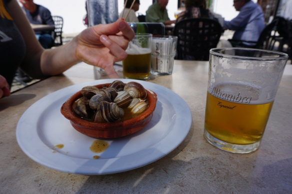 Bar Aliatar Los Carracoles: Carracoles (aka snails!)